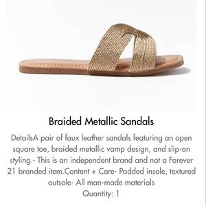 Braided Metallic Sandal